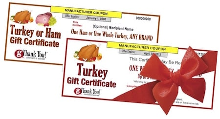 gThankYou offers turkey vouchers and ham gifts for grilling season or any season!