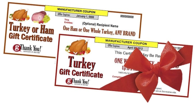 What makes the best Butterball Turkey Gift? gThankYou! Turkey Gift Certificates good for ANY Brand turkey.