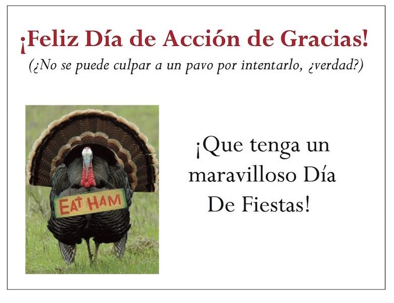 Spanish Resources for your gThankYou! Turkey Gift Certificates