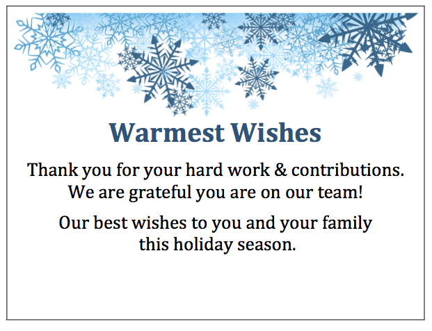 New designs for your holiday employee thank you!