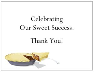 Share your appreciation with a custom thank you card and a Pie Gift Certificate from gThankYou