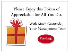 Share Your Employee Appreciation Gifts with a Heartfelt Card of Thanks.