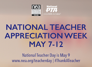 Share your teacher appreciation this week!