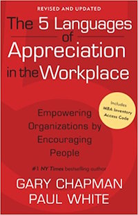 "Employee engagement books: ""The 5 Languages of Appreciation in the Workplace"""