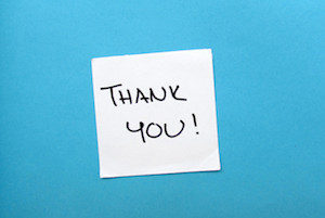 "Want to build workplace happiness? Share your employee gratitude with a sincere ""Thank You""!"