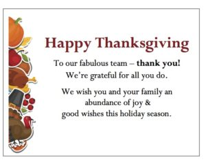 gThankYou free Thanksgiving gift Enclosure Cards can be personalized with message of appreciation.