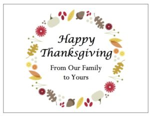 gThankYou Thanksgiving Gift Certificates with free gift Enclosure Cards