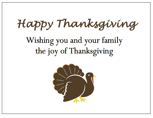 gThankYou Thanksgiving Card Designs: Turkey Gift