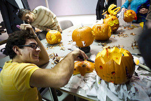 Halloween workplace fun - a pumpkin carving contest!