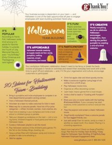 20 Ideas for Halloween Team Building in the Workplace. Just add an affordable staff gift and create a meaningful and fun workplace event.