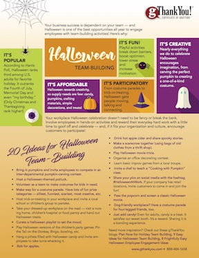 Download 20 Ideas for Halloween Team-Building by gThankYou