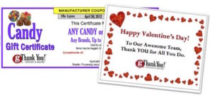 Valentine's Day in the Workplace - Share the love with a gThankYou Candy Certificate and thoughtful note of appreciation.