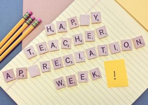 Thank a teacher today in honor of Teacher Appreciation Week!