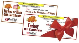 Give the gift of a Thanksgiving turkey with gThankYou Turkey Gift Certificates