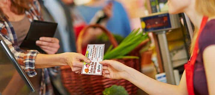 Redeem your gThankYou Certicate at grocery stores that honor Manufacturer Coupons.