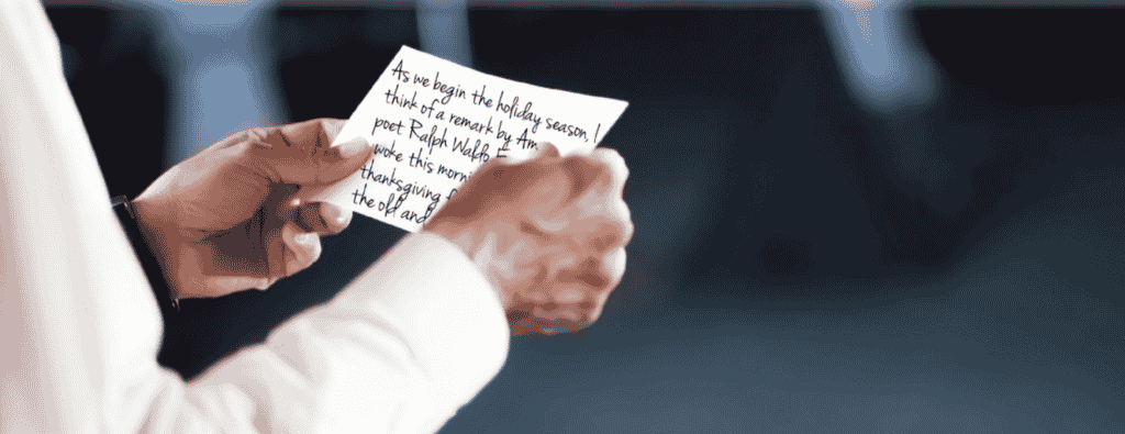 A well written note of thanks can be a memorable keepsake for employees.