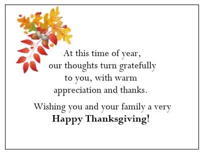 Thanksgiving Gift Enclosure Card - Fall Foliage - gThankYou