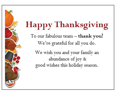 Thanksgiving Gift Enclosure Card - Thanksgiving Fun - gThankYou