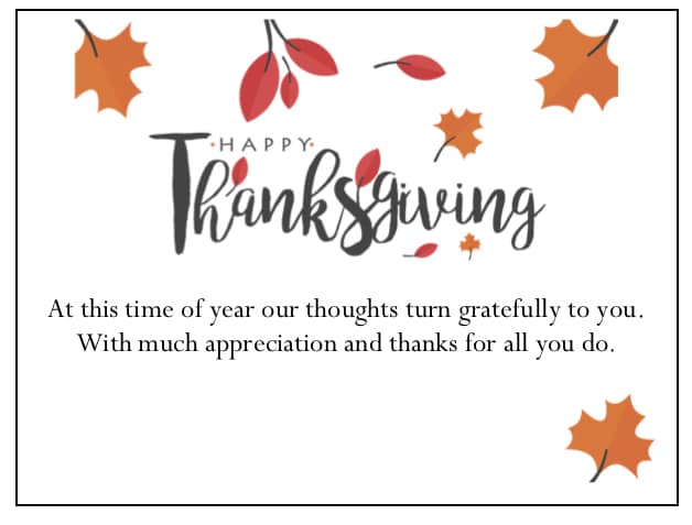 Thanksgiving Leaves gThankYou EnclosureCard