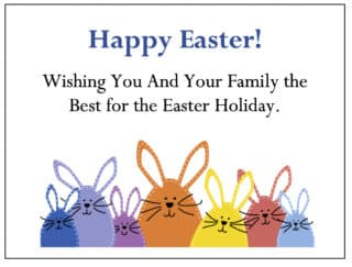 Easter Bunny gift Enclosure Card