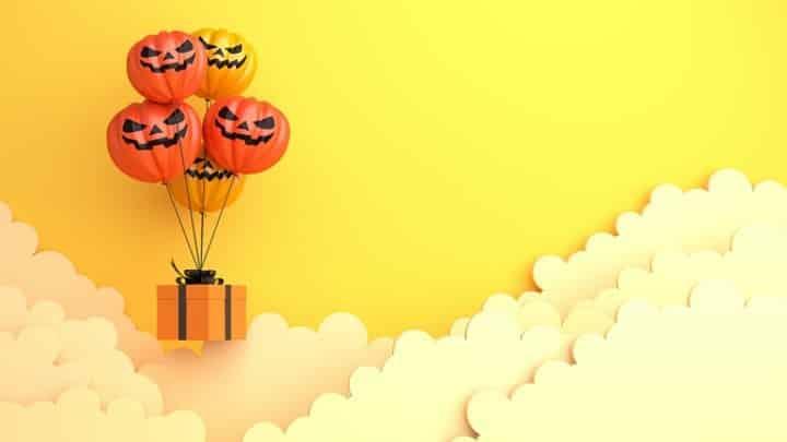Halloween Zoom Background - Pumpkin Balloons