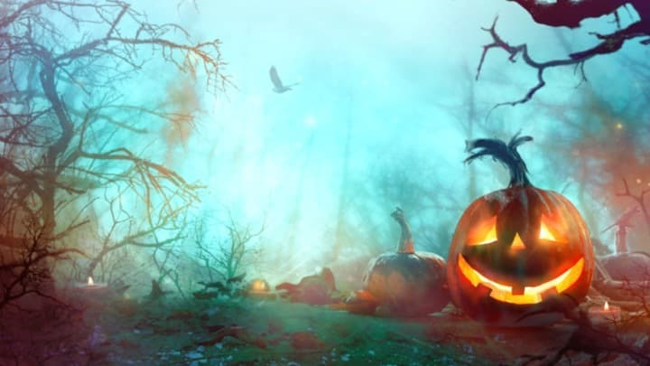 Halloween Zoom Background - Scary pumpkin
