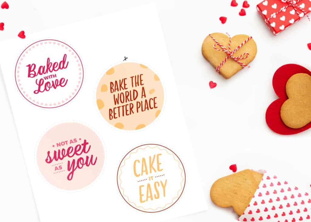Printable tags with kindness messages for treat bags